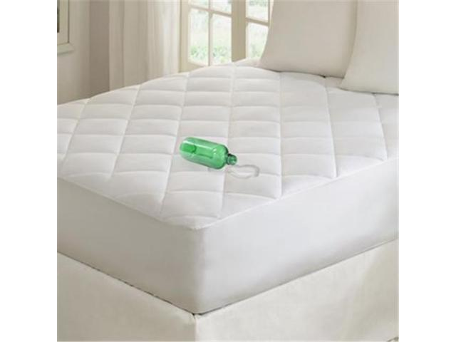 madison park basi160249 quiet nights waterproof cotton mattress pad white cal king