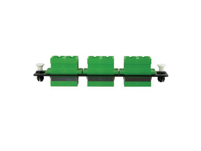 C2G Q-Series 12-Strand, SC Duplex, Zirconia Insert, SM, APC, Aqua SC Adapter panel