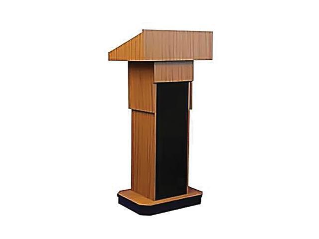 Portable Floor Wooden Church School Office Lecture Meeting Executive Non-Sound Column Lectern Presentation Stand Podium Medium Oak