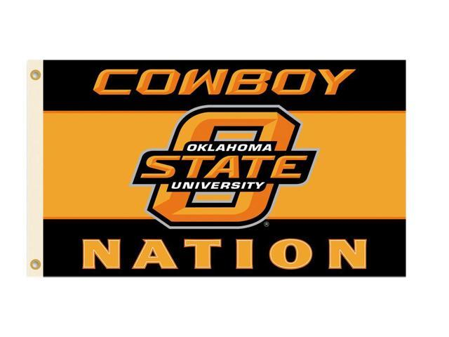 BSI Products 95147 Oklahoma State Cowboys- 3 ft. X 5 ft. Flag W-Grommets