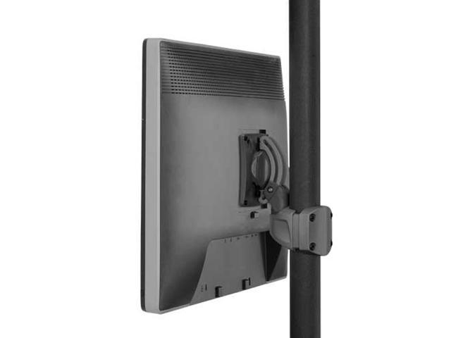 K0 pitch/pivot Pole MNT Single Display, Black
