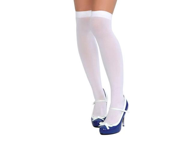 5f9fa6cba3911c Roma White Thigh High Stockings STC201_W White One Size Fits All ...