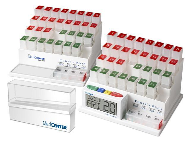 Medcenter 70354 Deluxe Dual System Medcenter Organizer
