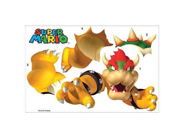 Super Mario Bros Giant Peel And Stick Wall Decal: Bowser