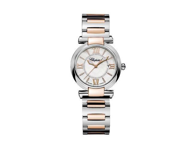 Chopard Imperiale Pearl Dial Steel and 18kt Rose Gold Ladies Watch 388541-6002