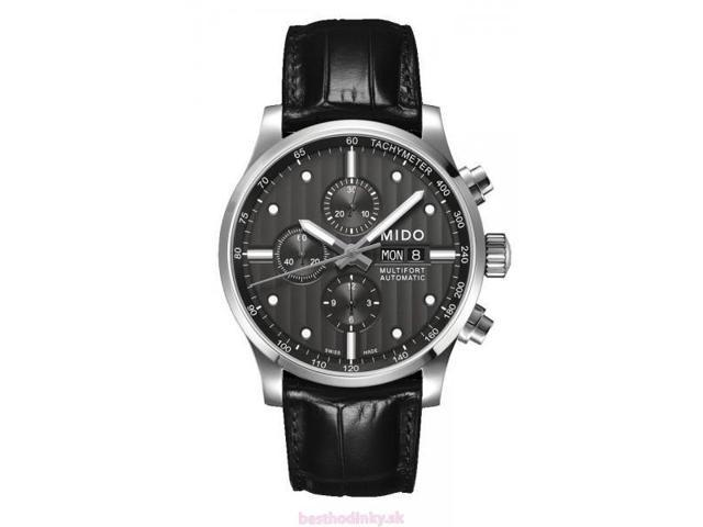 Mido Multifort Black Dial Black Leather Mens Watch M0056141606100