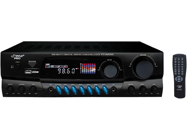 PYLE PRO PT560AU 300W Home AM FM MP3 Stereo Receiver