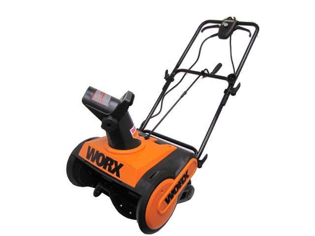 "Worx WG650 18"" Electric Snow Thrower up to 30 Feet, 13 Amp Orange"
