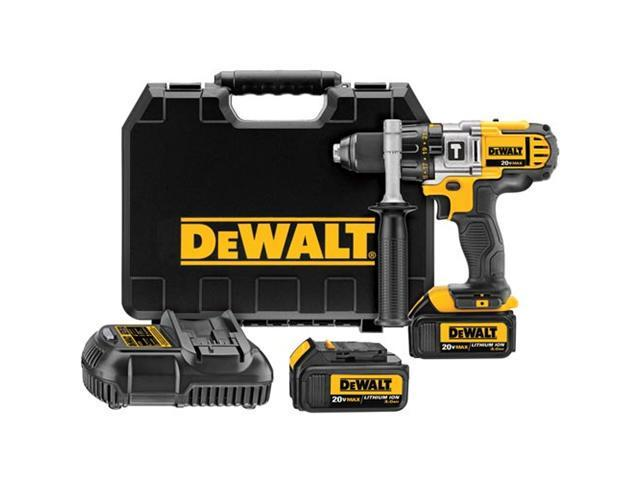 DCD985L2 20V MAX Cordless Lithium-Ion 1/2 in. Premium 3-Speed Hammer Drill Kit with 3.0 Ah Batteries