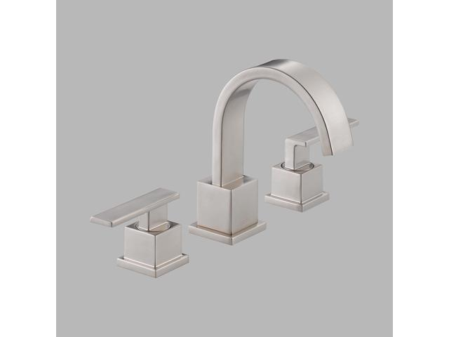 Delta 3553LF-SS Vero Stainless Two Handle Widespread Lavatory Faucet