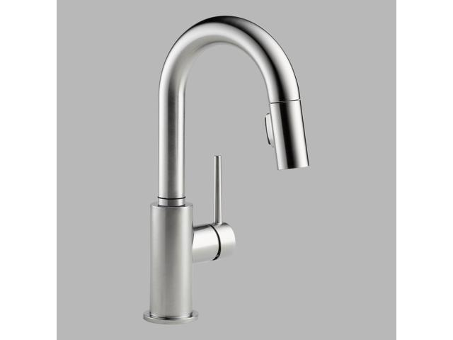 Delta 9959-AR-DST Trinsic Arctic Stainless Pull-Down Bar/Prep Faucet