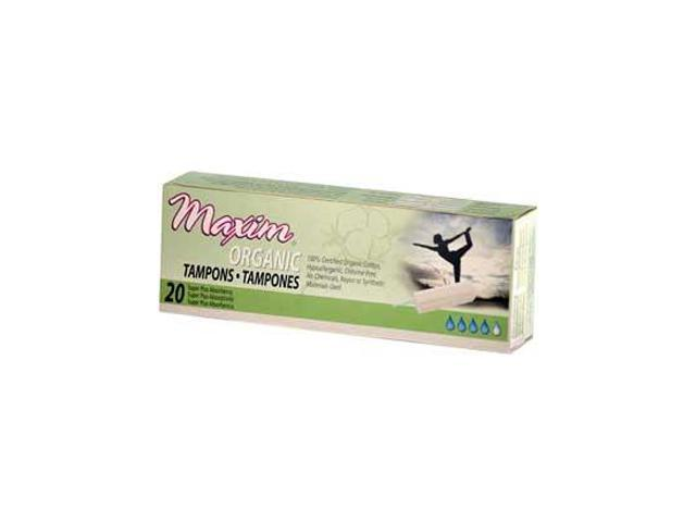 Organic Cotton Non Applicator Tampons Super Plus - 20 - Tampon