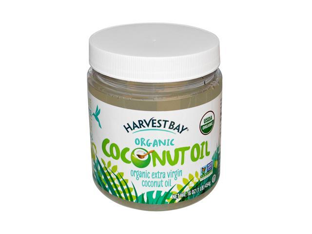 Harvest Bay Organic Coconut Oil, Extra Virgin, 16-Ounce Jars (Pack of 2)