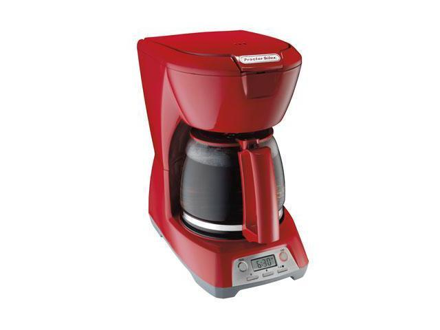 Proctor Silex 12-Cup Coffee Maker RED