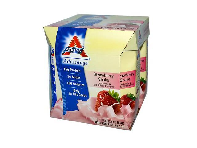 Advantage Shake LC-RTD Strawberry - Atkins - 4pk (11 oz) - Liquid