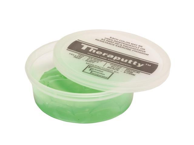 CanDo Theraputty 10-2623 Antimicrobial Exercise Material 4 Ounce Green Medium