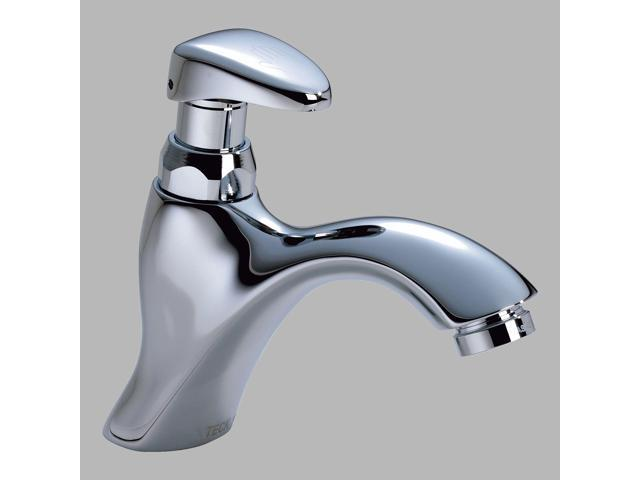Delta Commercial 87t111 87t Series Chrome Metering Slow Close Lavatory Faucet