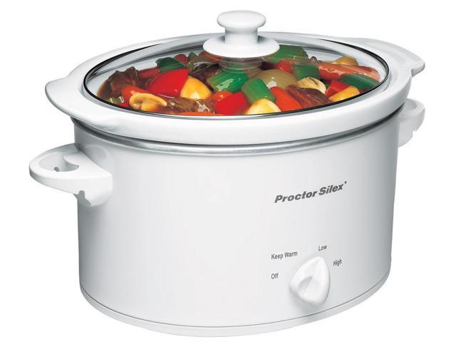 Proctor Silex 3 Quarts White Slow Cooker  33275Y