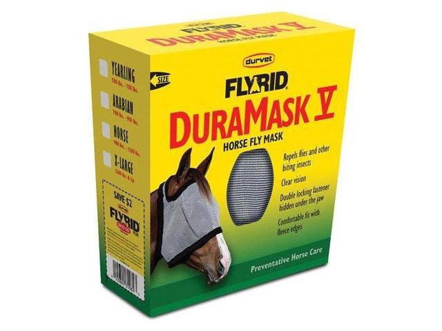 Durvet Equine Duramask Fly Mask Grey Yearling - 081-60002