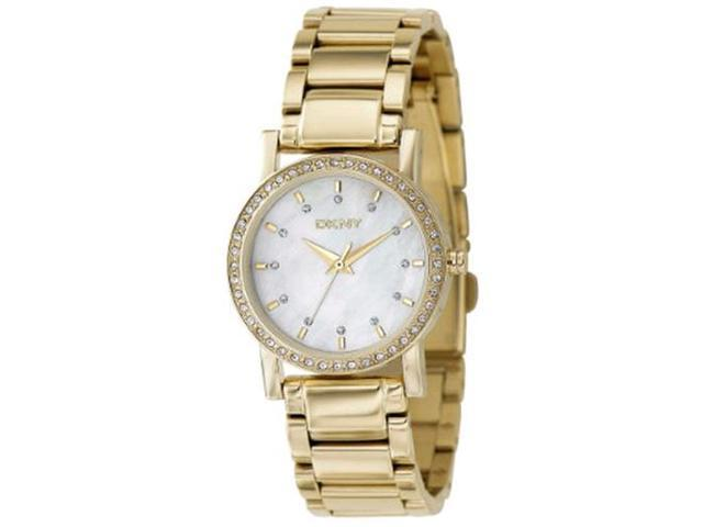 DKNY NY4792 Women's Mother-Of-Pearl Dial Gold Tone Stainles Steel Quartz Analog Watch