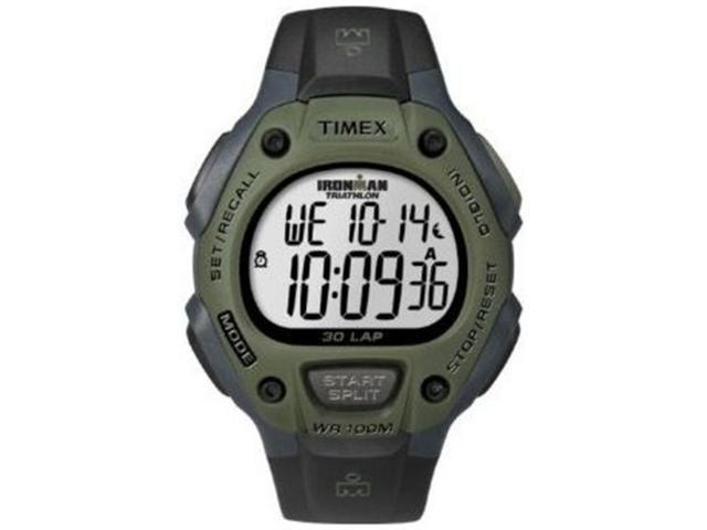 Timex Men's Ironman T5K520 Black Resin Quartz Watch with Silver Dial