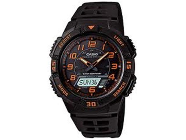 Casio Men's AQS800W-1B2V Black Resin Quartz Watch with Black Dial