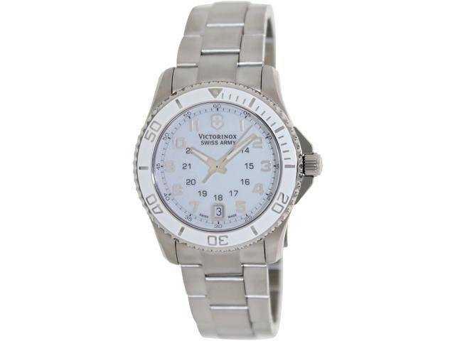 Victorinox Swiss Army Women's Maverick Gs 249051 Silver Stainless-Steel Swiss Quartz Watch with White Dial
