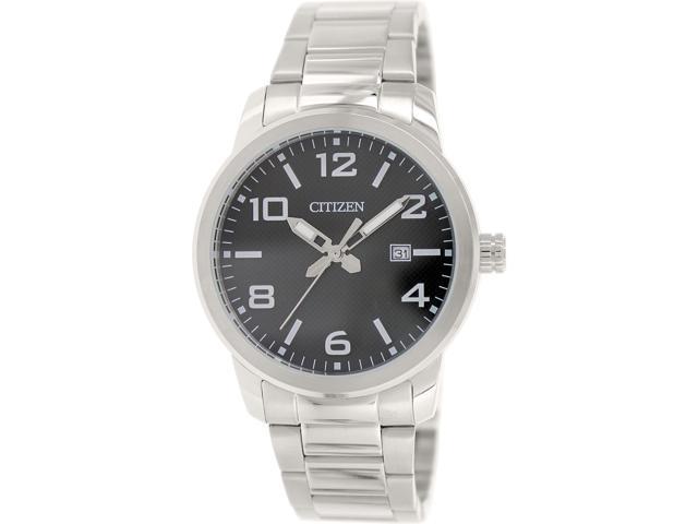 Citizen Men's BI1020-57E Silver Stainless-Steel Quartz Watch