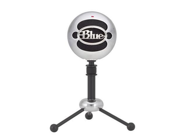 Blue Microphones Snowball (Brushed Aluminum) Condenser USB Microphone with Cardioid and Omnidirectional Pickup Patterns, 10dB Pad, and Included Stand and Cable - Brushed Aluminum