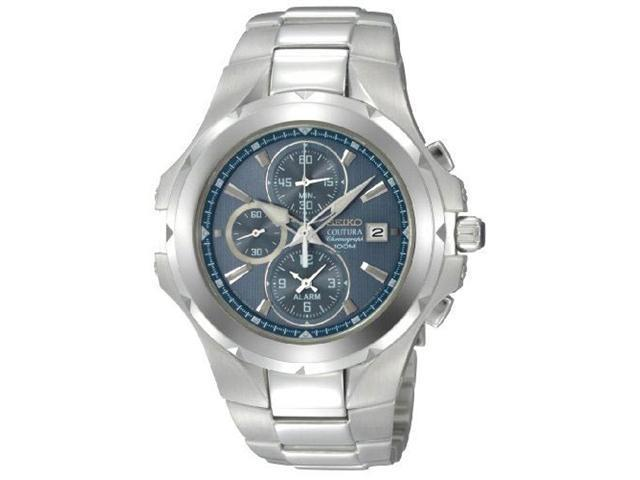 Seiko SNAD51 Men's Coutura Light Blue Dial Chronographs Stainless Steel Watch
