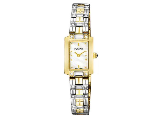 Pulsar PEGD46 Women Two Tone Stainless Steel Quartz Watch
