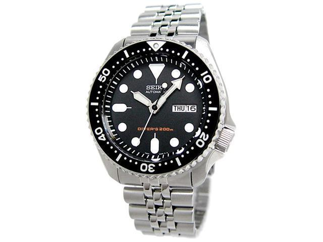 Seiko SKX007K2 Men's Divers Automatic Stainless Steel Watch - Black Dial