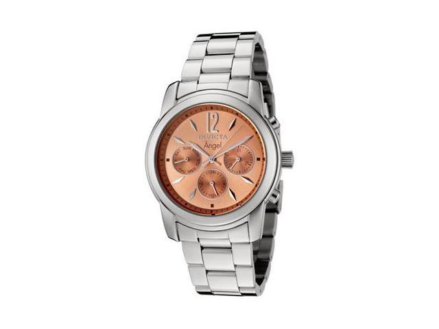 Women's Angel Multi-Function Stainless Steel Rose-Tone Dial