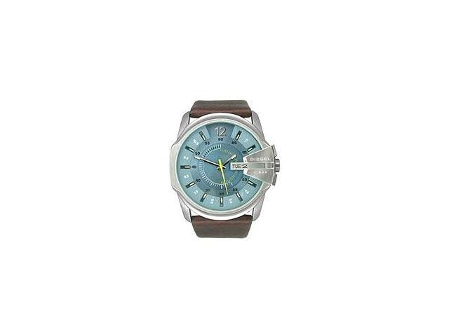 Diesel Not So Basic Blue Dial Brown Leather Mens Watch DZ1399