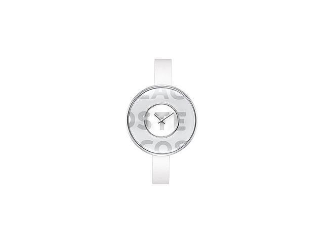 Lacoste Club Collection Figari Leather Strap White Dial Womens watch #2000541