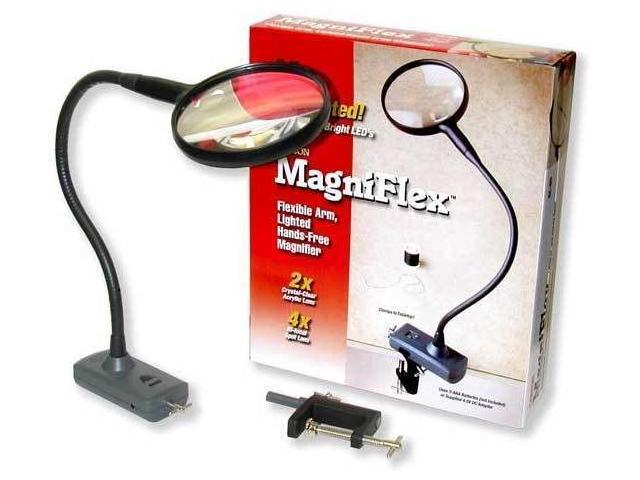 Carson LED LIGHTED Magnifier w/ Table Clamp and Power Adapter CL-65