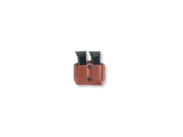 Gould & Goodrich  Double Mag Case w/Belt Loops, Chestnut Brown - For Glock