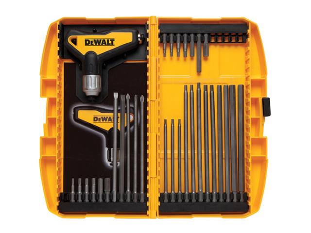 DWHT70265 31 Piece Ratcheting T Handle Hex Key Set