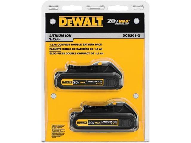 DeWALT DCB201-2 20V MAX Li-Ion Compact Battery 2-Pack
