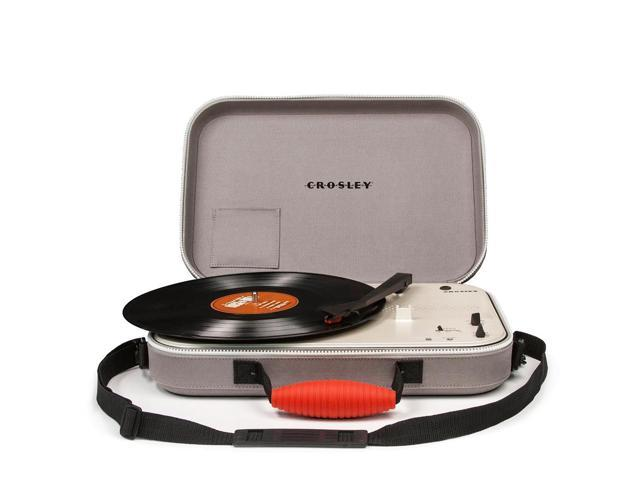 Crosley CR8016A-GY 3-Speed Battery Powered Messenger Turntable - Gray