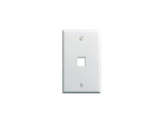 OnQ legrand WP3401-WH 1-Gang, 1-Port Wall Plate, White