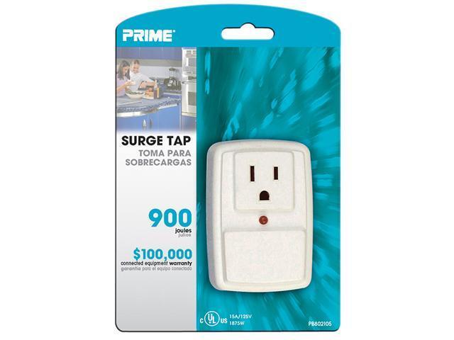 PRIME PB802105 1-Outlet 900J Surge Tap with Alarm