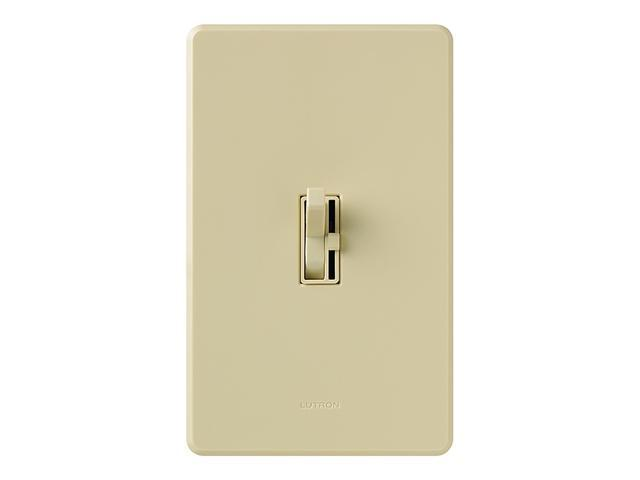 Lutron TGCL-153PH-IV Ariadni CFL/LED Toggler Dimmer, Ivory