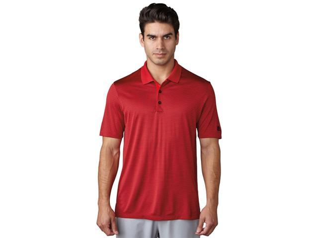 Adidas Golf 2017 Men's 2 Color Merch Stripe Short Sleeve Polo Shirt (Power Red/Black - M)