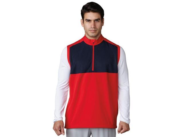 Adidas Golf 2017 Men's Competition Stretch Wind Vest (Scarlet - M)