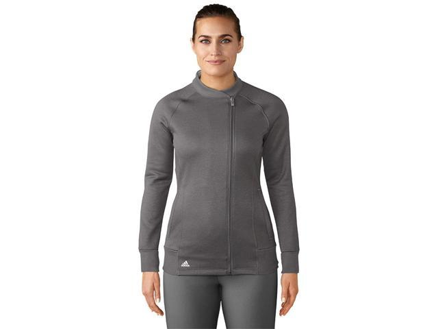 Adidas Golf 2017 Women's Fashion Bomber Long Sleeve Top - Trace Grey - BC5333 (Trace Grey - XL)