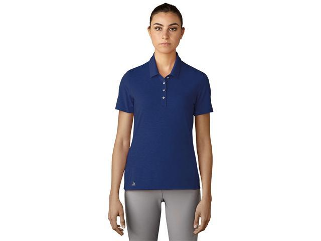 Adidas Golf 2017 Women's Essentials Cotton Hand Short Sleeve Polo Shirt - Mystery Ink - BC7038 (Mystery Ink - XS)