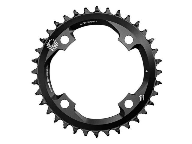 SRAM X-SYNC 2 Bicycle Chainring - 36T, 12sp, BCD: 104, Aluminum, Black - 11.6218.033.020