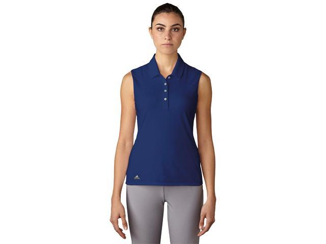 Adidas Golf 2017 Women's Essentials Cotton Hand Sleeveless Polo Shirt - Mystery Ink - BC7318 (Mystery Ink - L)