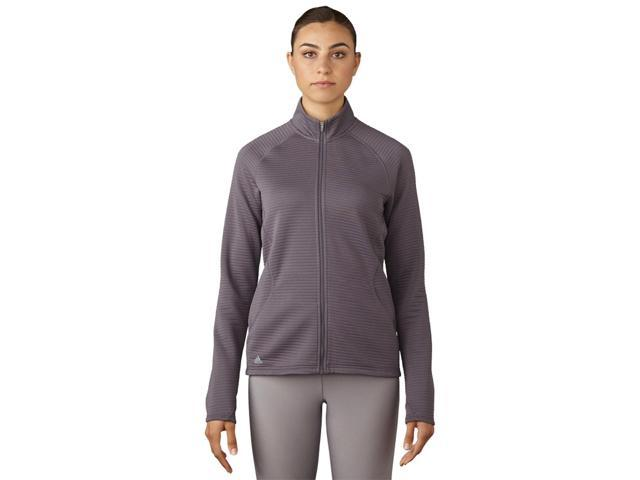 Adidas Golf 2017 Women's Essentials 3-Stripes Full Zip Layering Top (Trace Grey - S)